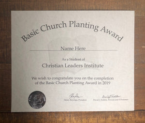 Basic Church Planting Award (Tier 1)