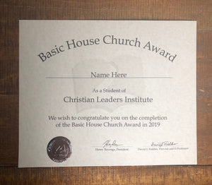 Basic House Church Award (Tier 1)
