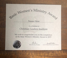 Load image into Gallery viewer, Basic Women's Ministry Award (Tier 1)