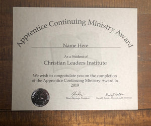 Basic Worship Leader Award (Tier 1)
