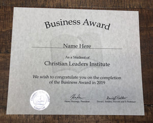 Business Award (Tier 1)