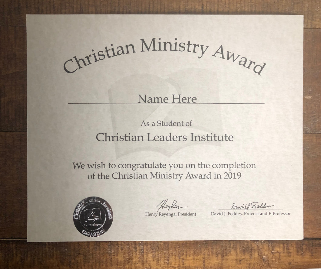Christian Ministry Award (Tier 2)