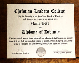 Diploma of Divinity