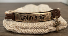 Load image into Gallery viewer, Amazing Grace Bracelet with a John 3:16 Leather Bracelet Option -  $12.99