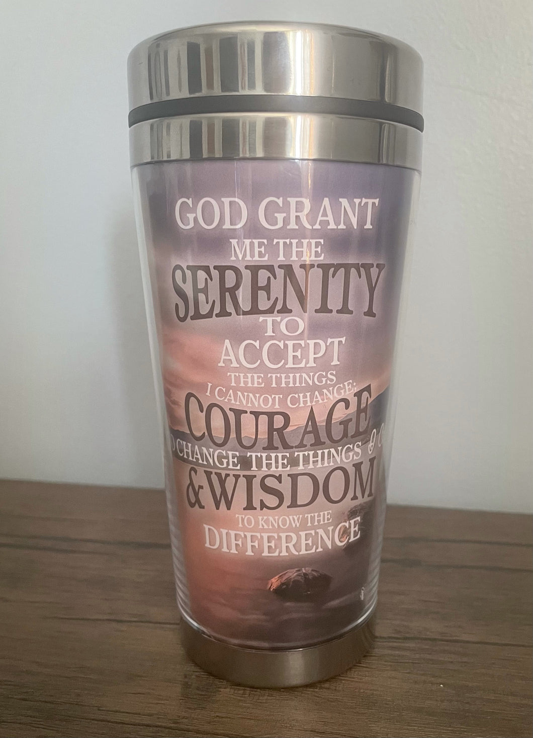 Prayer of Serenity Travel Mug $16.99