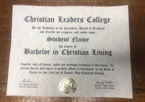 Bachelor of Christian Living