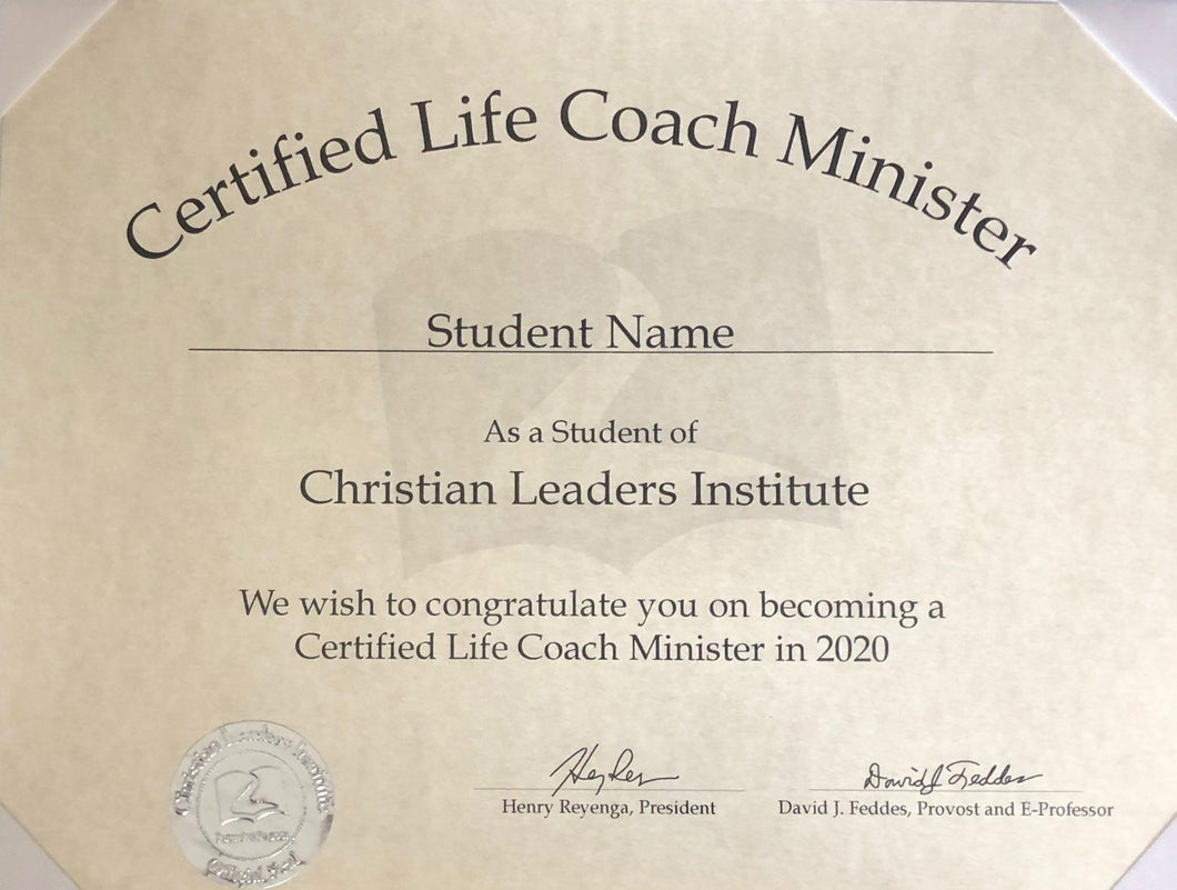 Certified Life Coach Minister  (Tier 2) $20 (Digital Download)