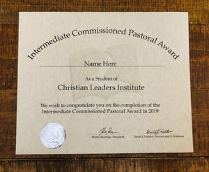 Intermediate Commissioned Pastoral Award (Tier 2)
