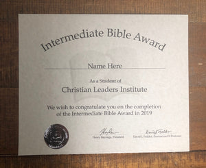 Intermediate Bible Award (Tier 2)