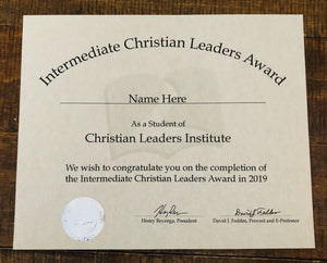 Intermediate Christian Leaders Award (Tier 3)