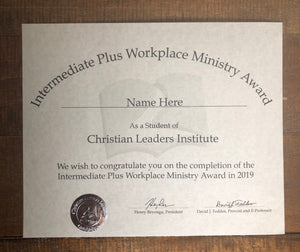 Intermediate Plus Workplace Ministry Award (Tier 2)
