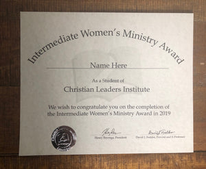 Intermediate Women's Ministry Award (Tier 3)