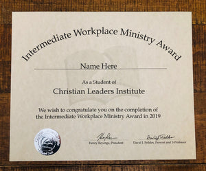 Advanced Workplace Ministry Award