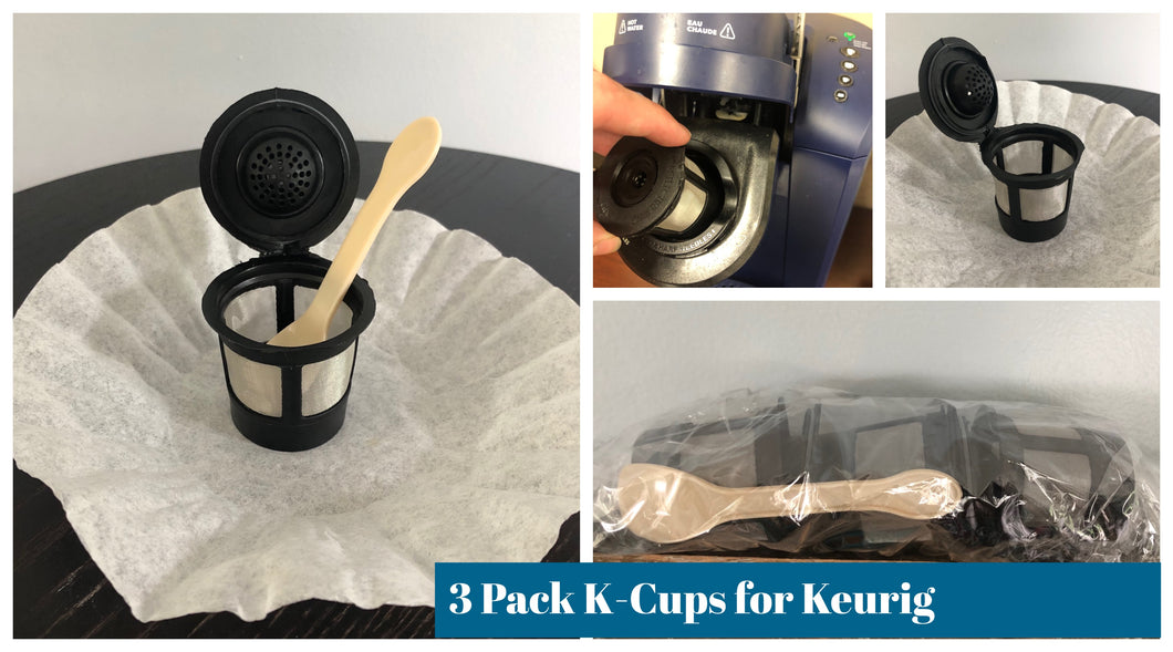 3 Pack Reusable K-Cups Filters for Keurig $0.50