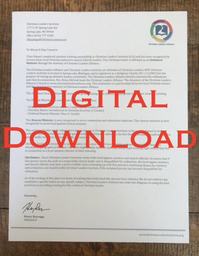 Letter of Good Standing (Digital Download)