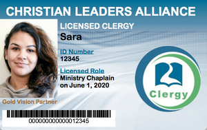 Licensed Ministry Chaplain ID