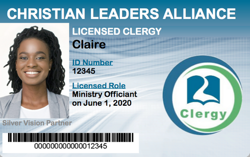 Licensed Ministry Wedding Officiant ID