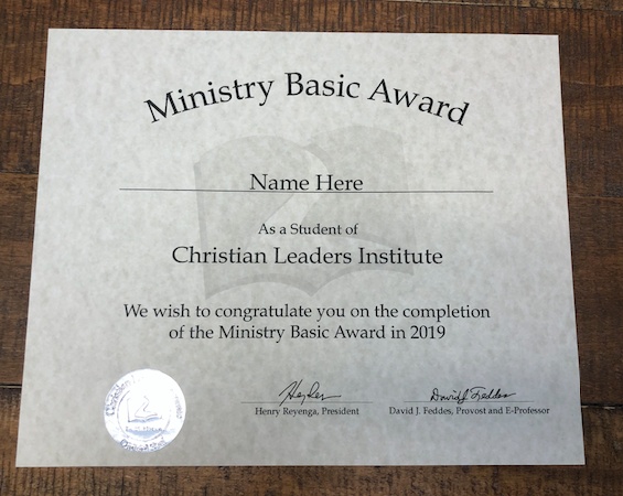 Ministry Basic Award (Tier 1)