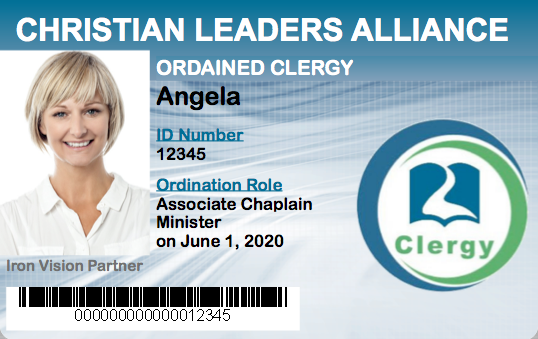 Associate Chaplain Minister Ordination Student ID