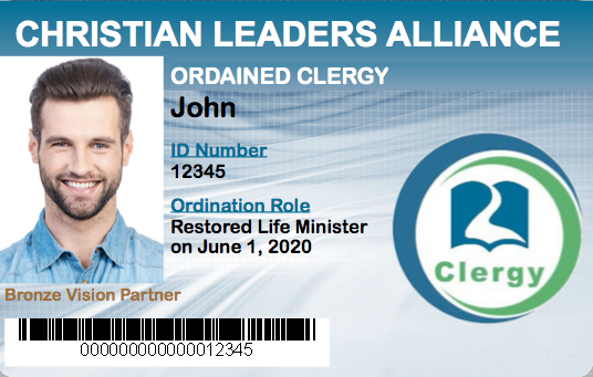 Restored Life Minister Ordination Student ID