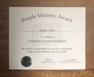 People Ministry Award (Tier 3)