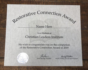 Restorative Connection Award (Tier 3)