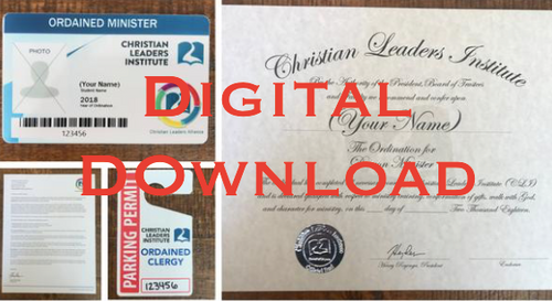 Official Ordination Package (Digital Download)