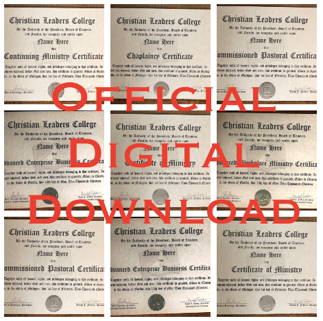 Official Certificate (Digital Download)