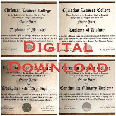 Offical Diploma (Digital Download)