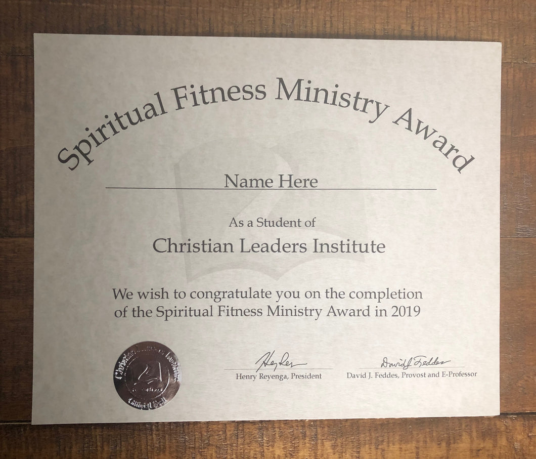 Spiritual Fitness Ministry Award (Tier 2)