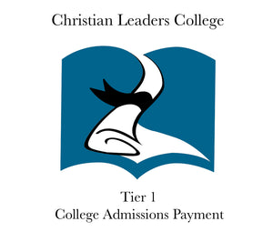 Tier 1 College Admissions Fee $15 (One Time)