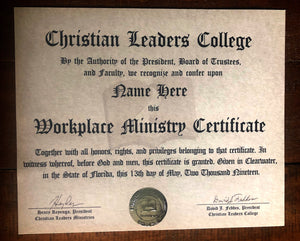 Workplace Ministry Certificate