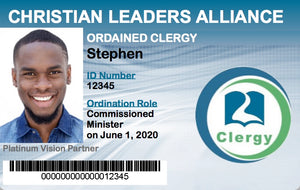 Commissioned Minister Ordination Student ID