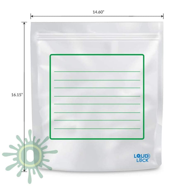 Loud Lock All States Mylar Bags - White/clear 1000Ct 1 Lb 30 Count / Collective Supplies