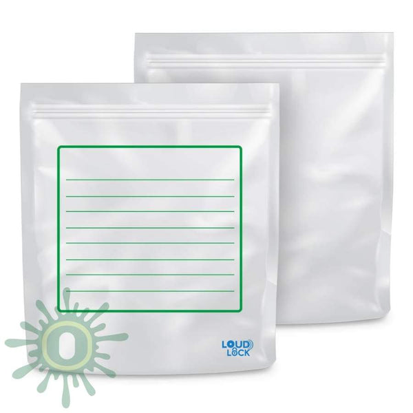 Loud Lock All States Mylar Bags - White/clear 1000Ct Collective Supplies