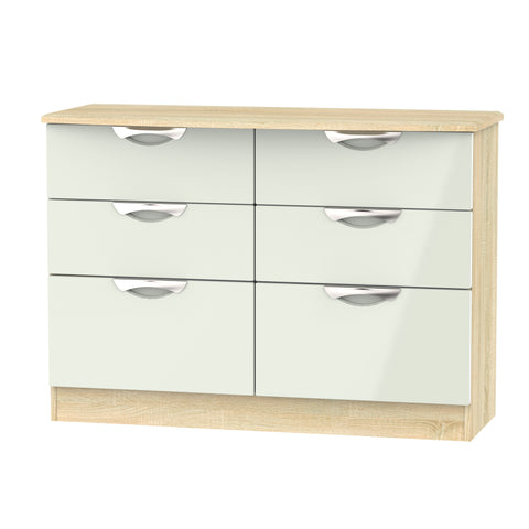 Ealing - Kashmir / Light Wood - 6 Draw Midi Chest