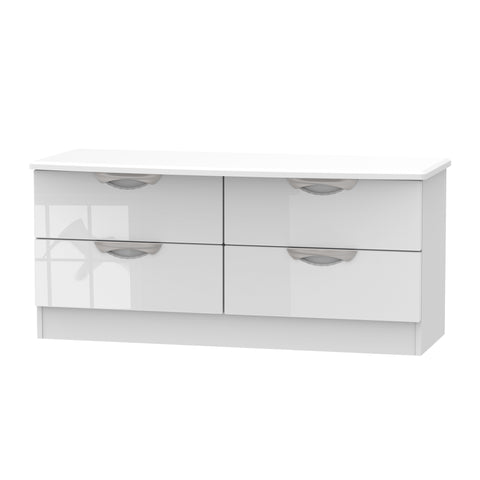 Ealing - White Gloss / White - Bed Box