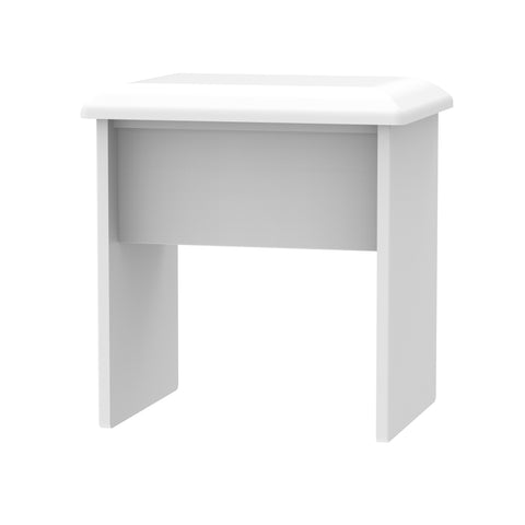 Ealing - White Gloss / White - Stool