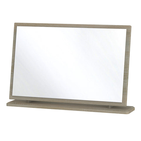 Ealing -  Grey/Dark Wood - Large Vanity Mirror