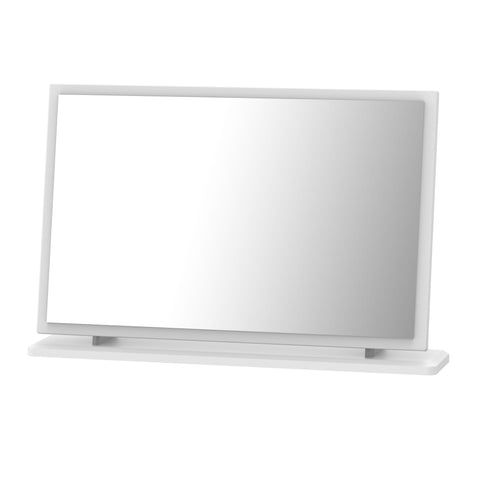 Ealing - White Gloss / White - Large Vanity Mirror