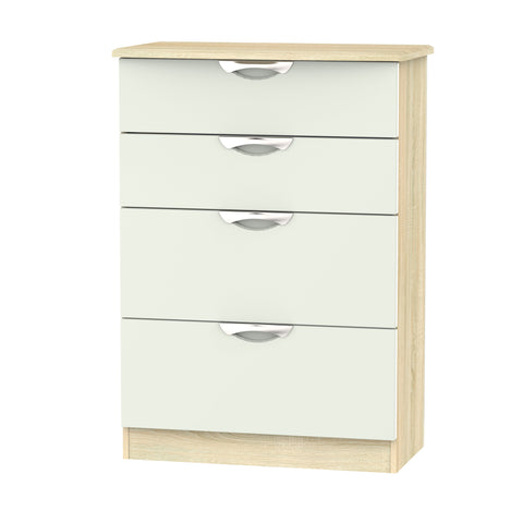 Ealing - Kashmir / Light Wood - 4 Draw Midi Chest