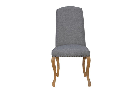 Luxury Chair With Studs - Light Grey