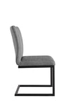 Diamond Stitched Dining Chair - Grey
