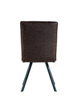 Padded Stripe Dining Chair - Brown