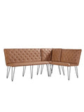 Studded Back Bench Brown - 140cm