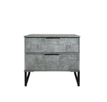 Daniel Range (Concrete/Pewter) - 2 Draw Locker