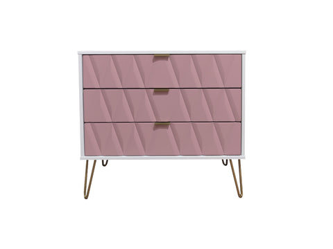 Primrose Hill Pink/White  - 3 Draw Chest