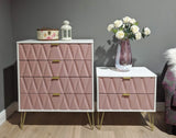 Primrose Hill Pink/White - 4 Draw Chest
