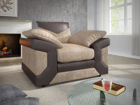 Denise -  Brown & Beige Sofa