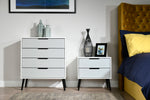Hanwell White /Grey - 2 Draw Midi Locker